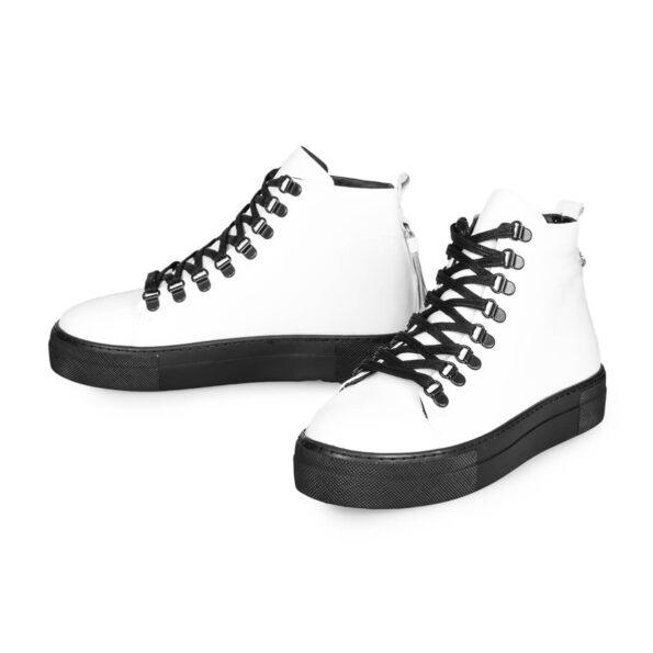 Sneaker Boots-Leder -Weiße und schwarze -5