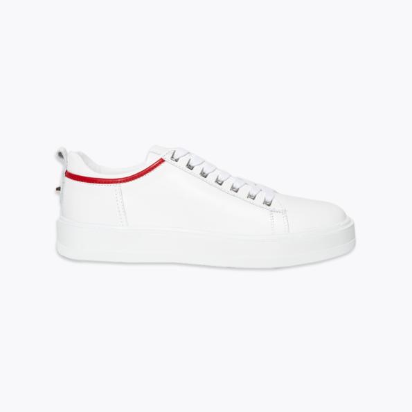 Sneaker für Herren Weiss-rot mit niete-4