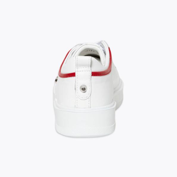 Sneaker für Herren Weiss-rot mit niete-5
