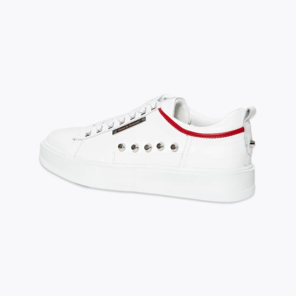 Sneaker für Herren Weiss-rot mit niete-6