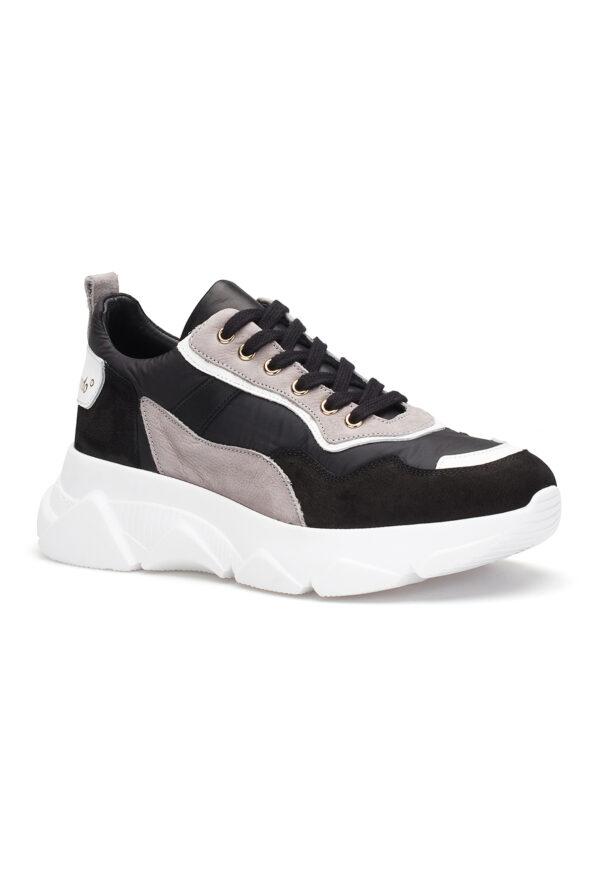 gianni&armando_herren_leder_sneakers_Schwarzgrau