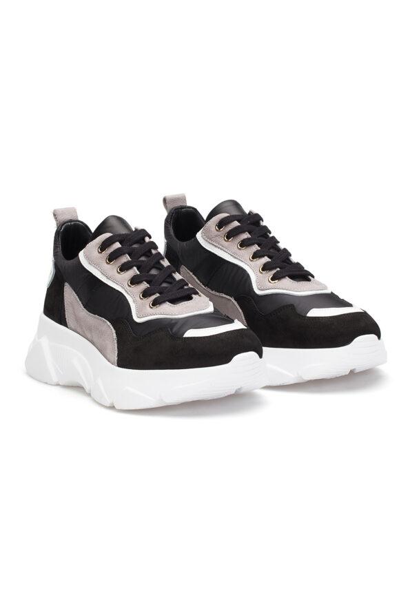 gianni&armando_herren_leder_sneakers_Schwarzgrau_01