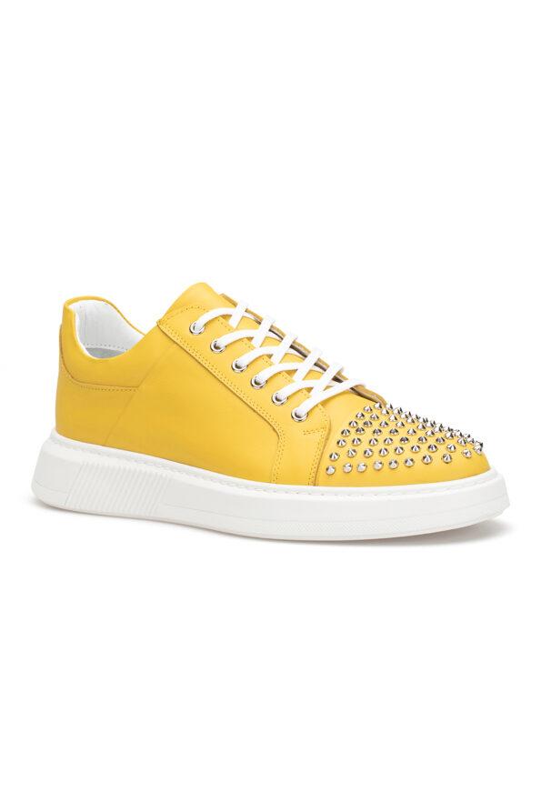 gianniarmando_herren_leder_sneakers_gelb_mit-niete_01
