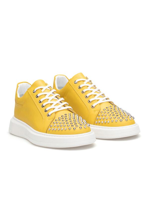 gianniarmando_herren_leder_sneakers_gelb_mit-niete_02