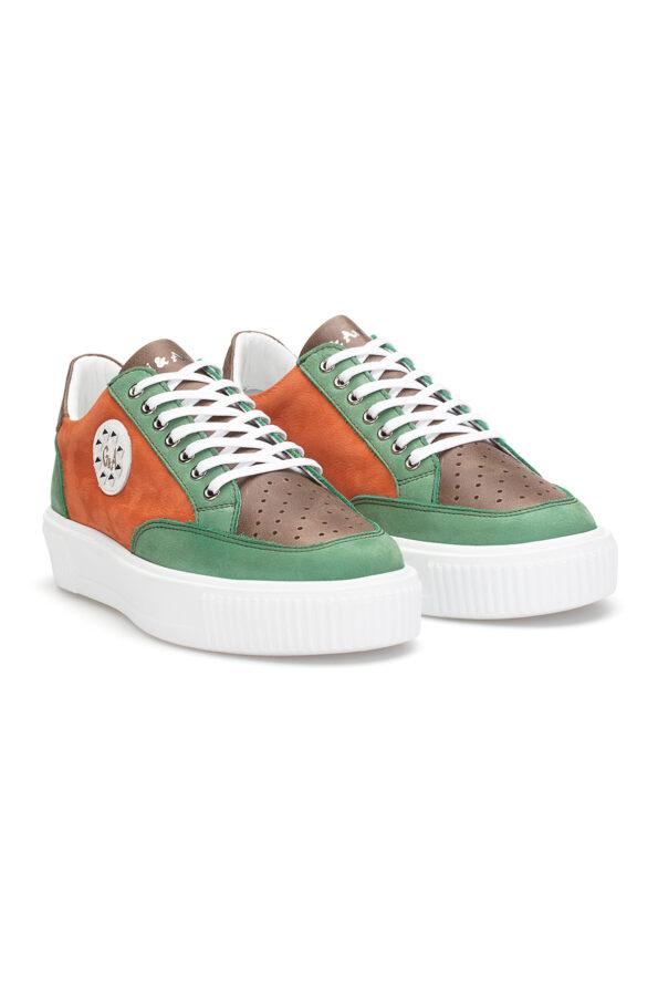 gianni&armando_herren_leder_sneakers_grun_orange_01