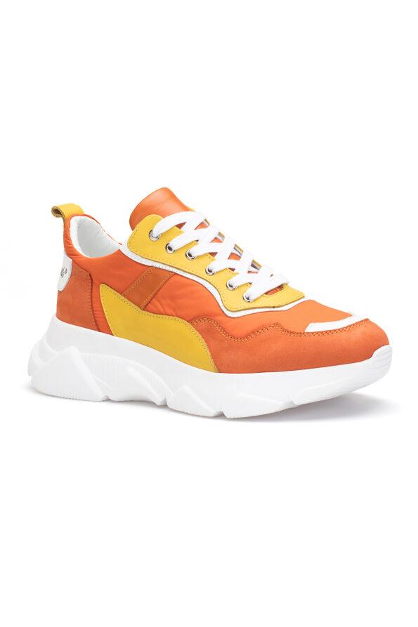 gianni&armando_herren_leder_sneakers_orange_gelb_01
