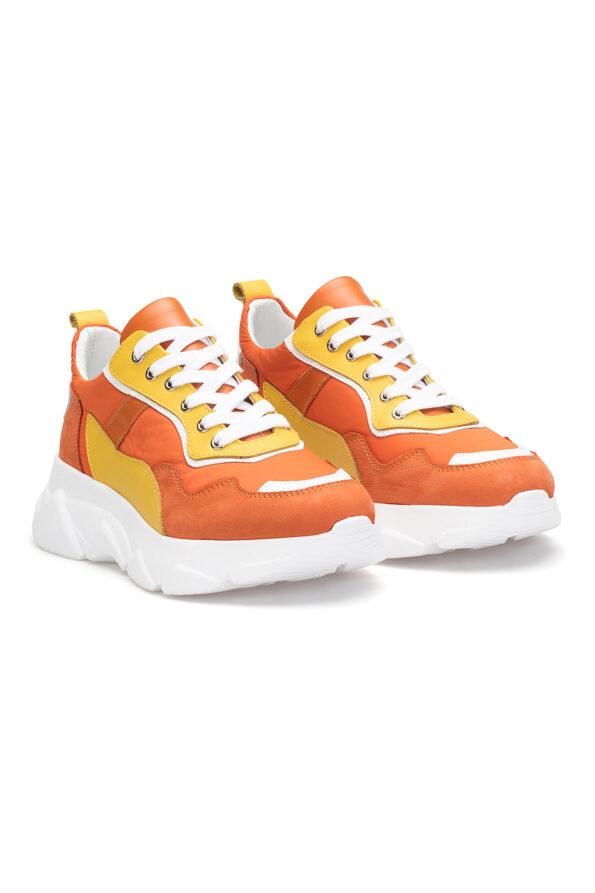 gianni&armando_herren_leder_sneakers_orange_gelb_02