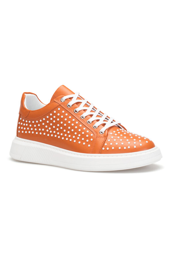 gianniarmando_herren_leder_sneakers_orange_weiss_punkte_01