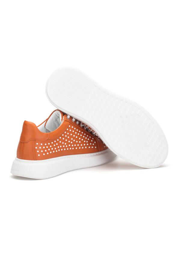 gianniarmando_herren_leder_sneakers_orange_weiss_punkte_03