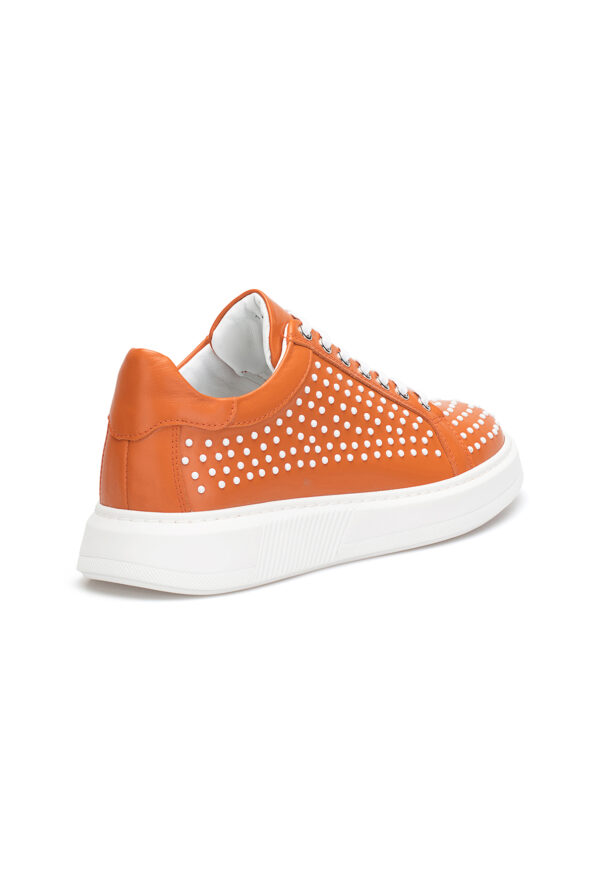 gianniarmando_herren_leder_sneakers_orange_weiss_punkte_04