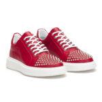 gianniarmando_herren_leder_sneakers_rot_mit_niete