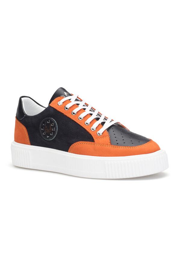gianniarmando_herren_leder_sneakers_schwarz_orange_3