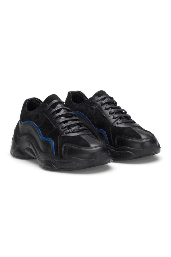 gianni&armando_herren_leder_sneakers_scwarz_ blue_02