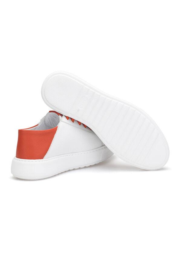 gianni&armando_herren_leder_sneakers_weiss_orange _02