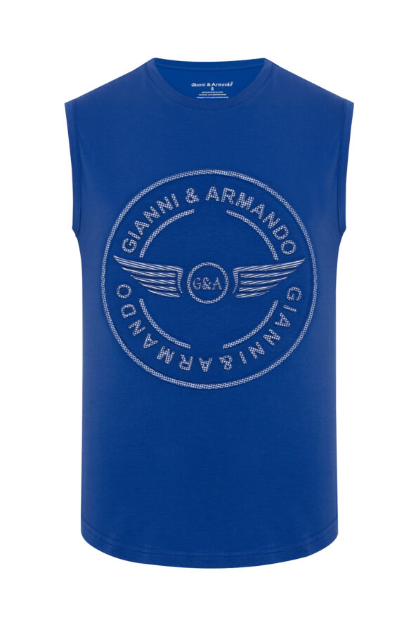 gianni_armando_designer_tshirt_armellos_logo_blau