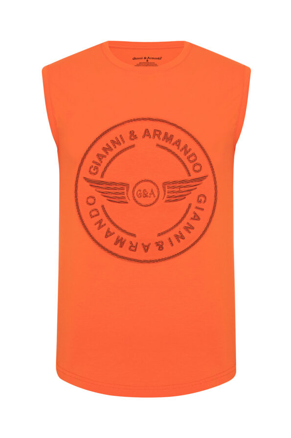 gianni_armando_designer_tshirt_armellos_logo_orange