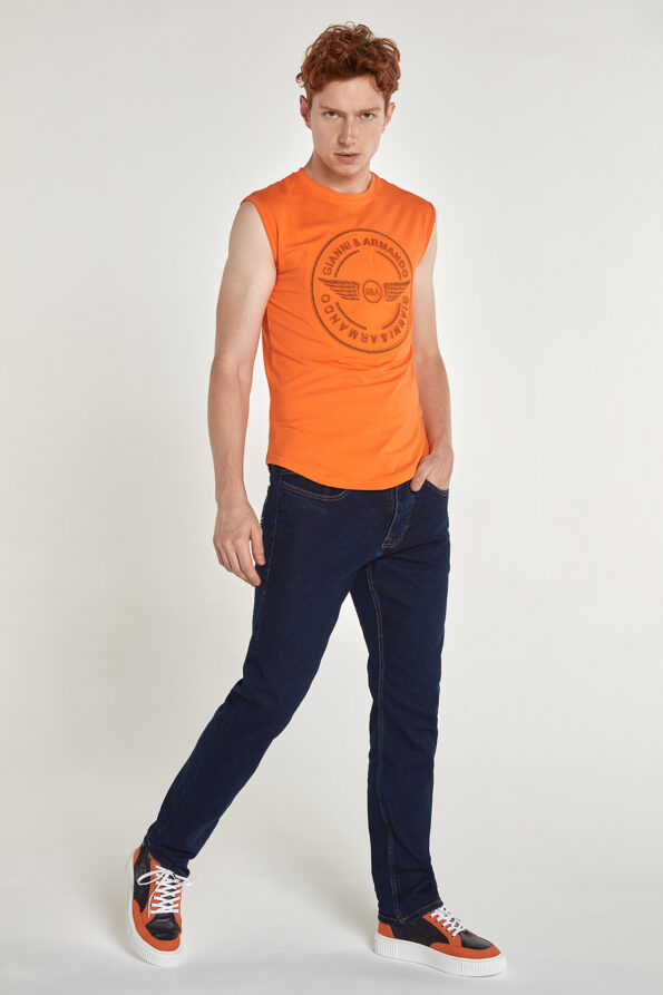 gianni_armando_designer_tshirt_armellos_logo_orange_01