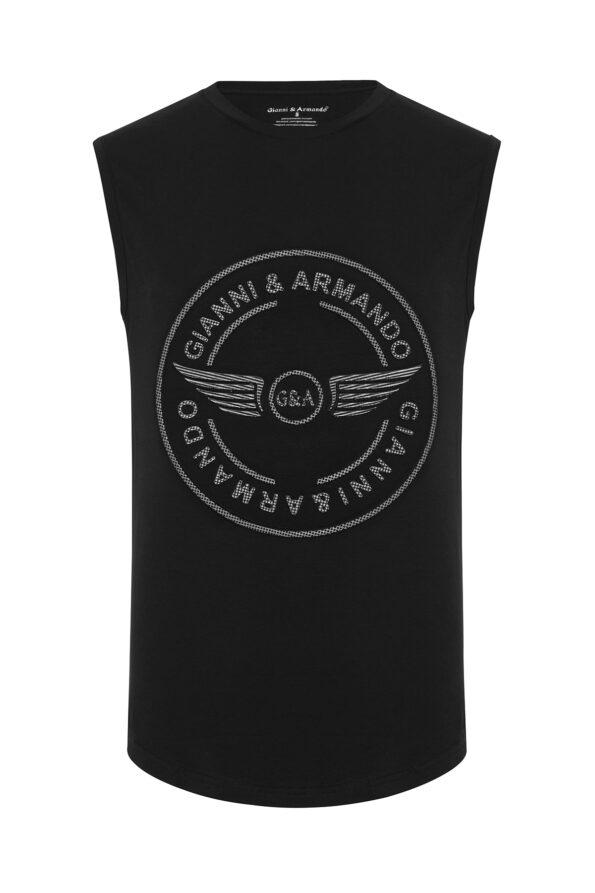 gianni_armando_designer_tshirt_armellos_logo_schwarz