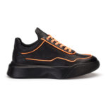 gianniarmando_herren_leder_sneakers_schwarz_orange
