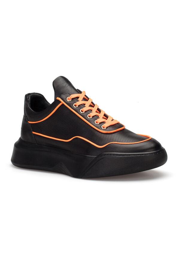 gianniarmando_herren_leder_sneakers_schwarz_orange_01