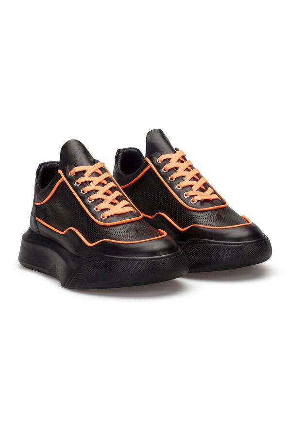 gianniarmando_herren_leder_sneakers_schwarz_orange_02