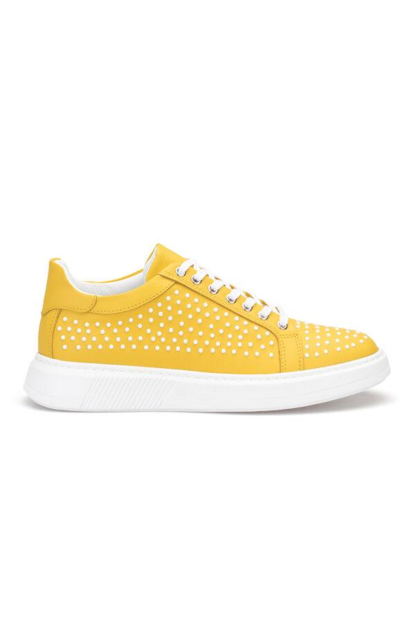gianniarmando_herren_leder_sneakers_gelb_weiss